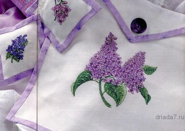 схемы вышивки крестом цветы