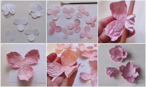 Бумажные цветы своими руками пошаговые инструкции