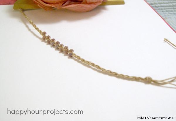 Как своими руками сплести браслет из веревки и бусин (21) (600x411, 78Kb)