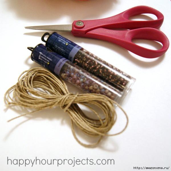 Как своими руками сплести браслет из веревки и бусин (27) (600x600, 161Kb)