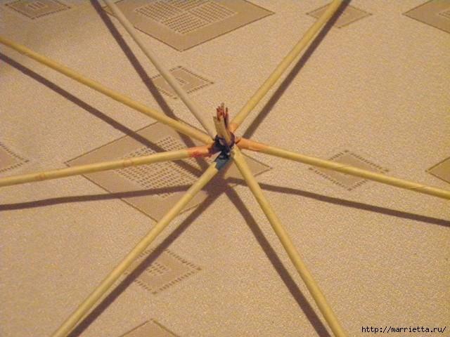 плетение из газет. венок спиральным плетением для пасхального декора (2) (640x480, 184Kb)