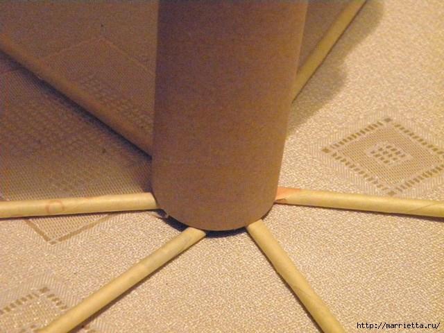 плетение из газет. венок спиральным плетением для пасхального декора (4) (640x480, 183Kb)