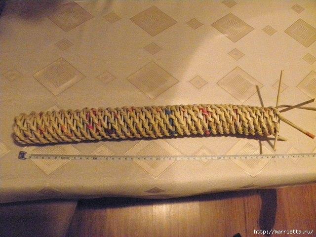 плетение из газет. венок спиральным плетением для пасхального декора (25) (640x480, 154Kb)