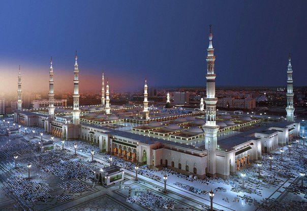 Мечети Пророка в Медине. Саудовская Аравия (604x415, 59Kb)