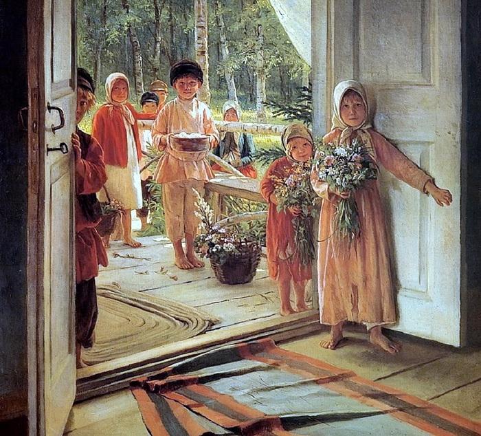 Лемох, Кирилл Викентьевич (1841-1910) S Pozdravleniyem (700x634, 230Kb)