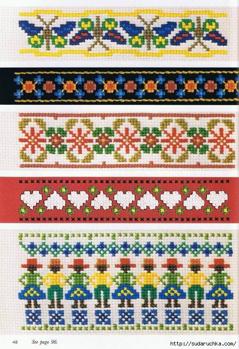 Вышивка крестом орнаменты простые 15