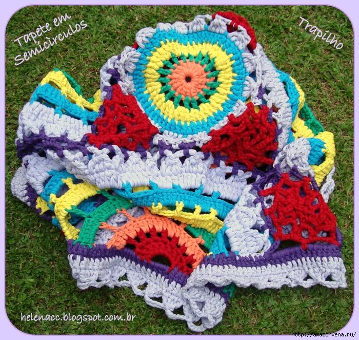 Цветной радужный коврик крючком. Схема (3) (700x662, 527Kb)