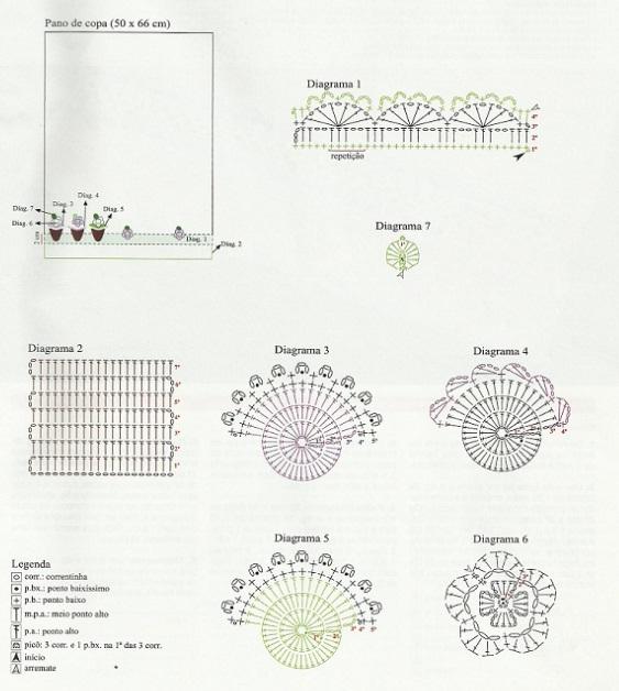 Красивая обвязка крючком (5) (563x628, 96Kb)