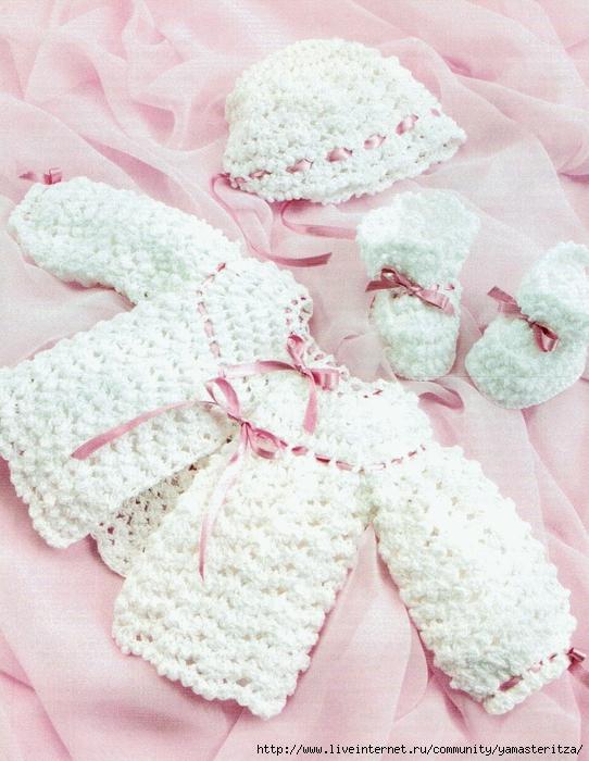 Вязание для малышей, новорожденных, модели и схемы Вязание для малышей свитера и шапочки Cable.