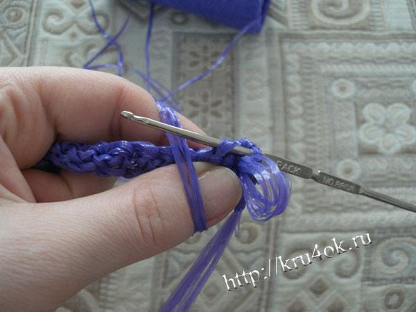 Вязание мочалок для начинающих