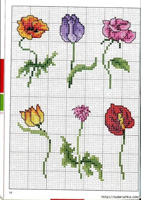 point de croix grilles russes gratuites maison fleurs et fruits le blog du fil. Black Bedroom Furniture Sets. Home Design Ideas
