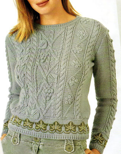 пуловер спицами (3) (420x534, 72Kb)