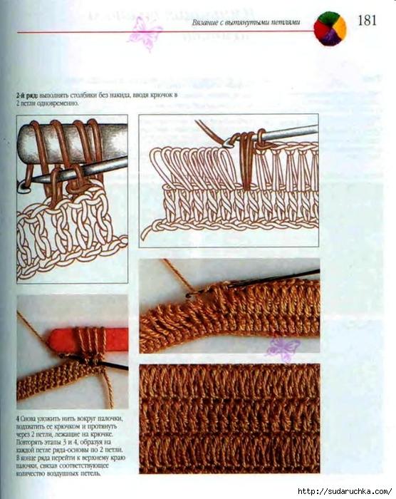 Вязание вытянутых петель крючком мастер класс 3