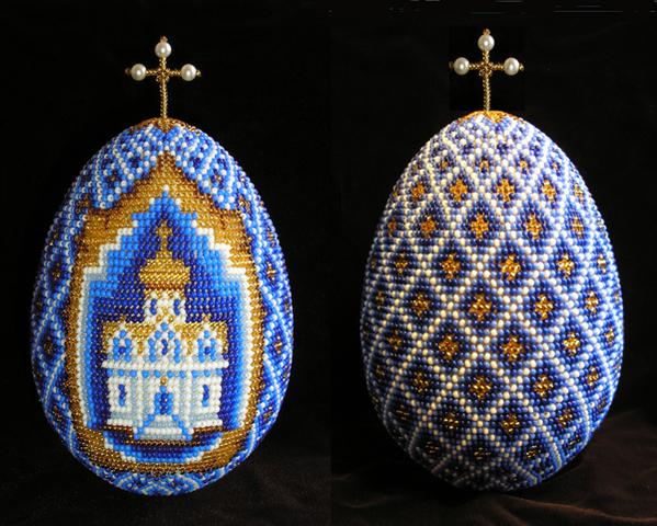 Посхальные яйца бисером
