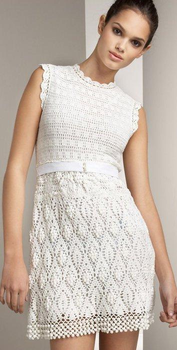 Летние платья крючком со схемой