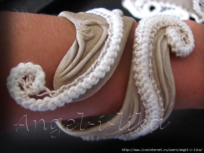 Кожа и крючок вязание