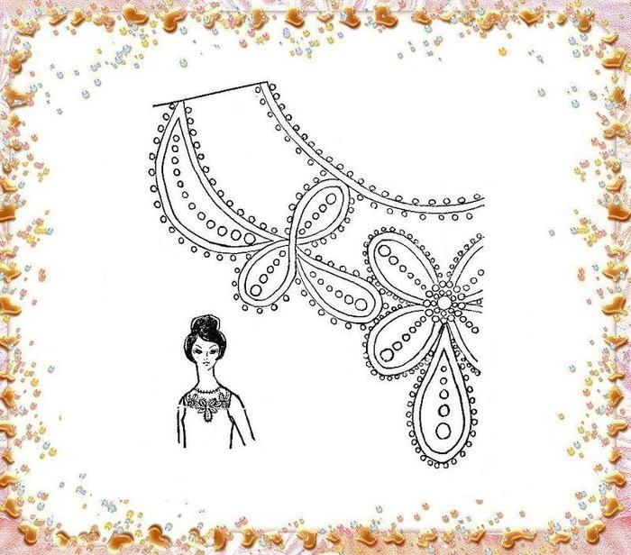 Вышивка бисером на платье своими руками схемы 76