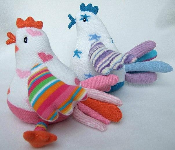 Петушки из носков своими руками