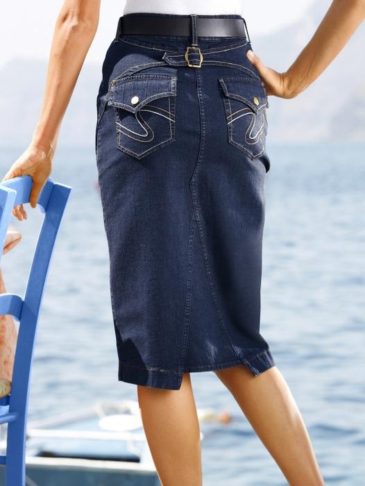 Как сшить юбку и с джинсами 124