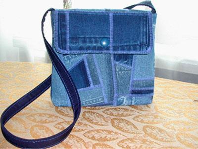 Выкройка сумки из джинсовой юбки