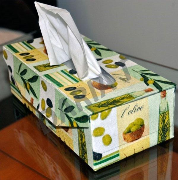 Как сделать коробочку для салфеток своими руками