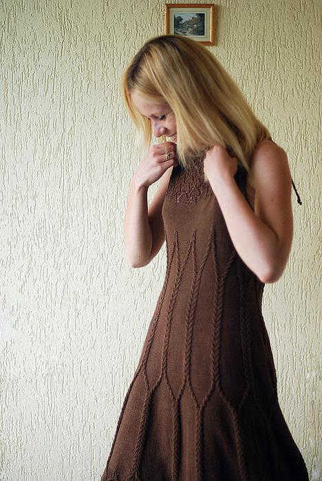 """针织:""""真丝""""巧克力""""连衣裙"""" - maomao - 我随心动"""