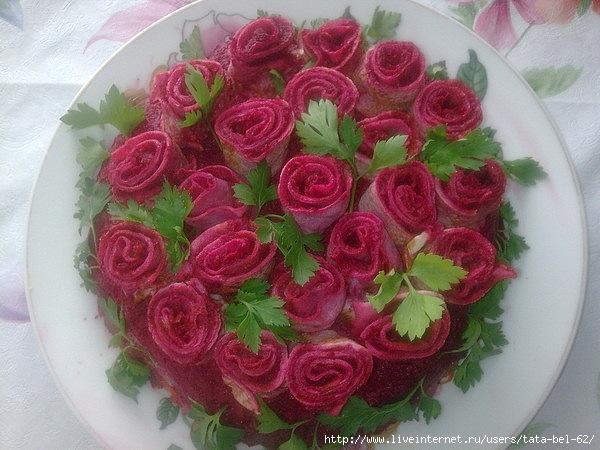 рецепт салата с блинами и