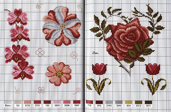 Для тех, кто любит вышивать схемки к дню св. Валентина.