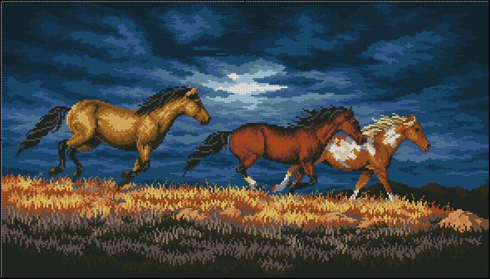 Бегущие кони (700x398, 315Kb)