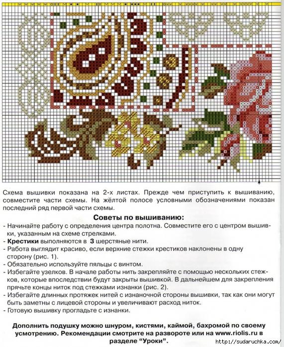 Бесплатно схемы вышивки крестиком подушек