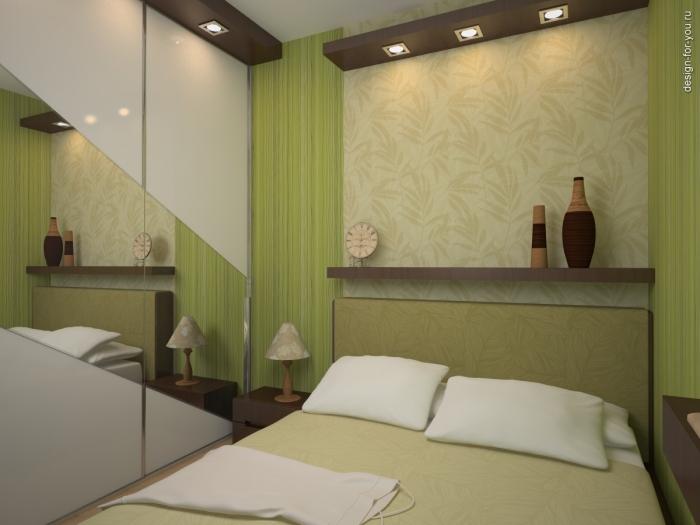 Спальня без окна маленькая фото 7