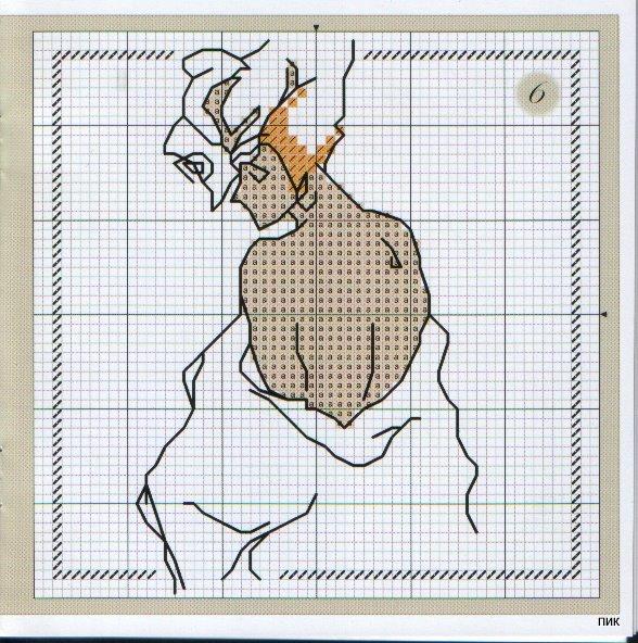 Монохромная вышивка, схемы (3) (588x592, 119Kb)