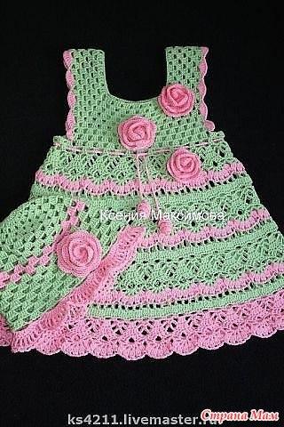 Летнее платье детское крючком