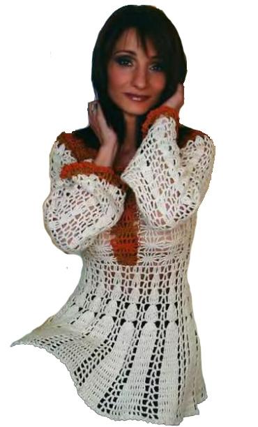 вязание расклешенный рукав
