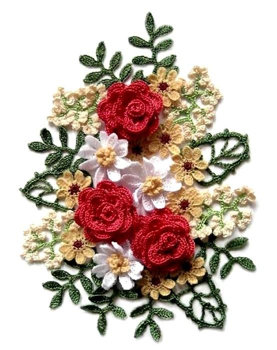 Картинки вязанные крючком цветы 7