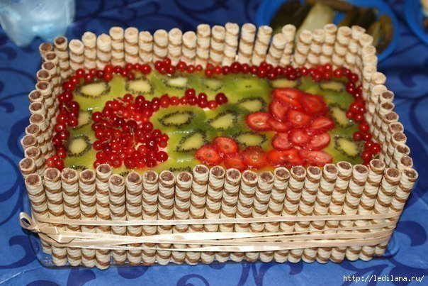 Торт Фруктовая корзина (604x403, 171Kb)