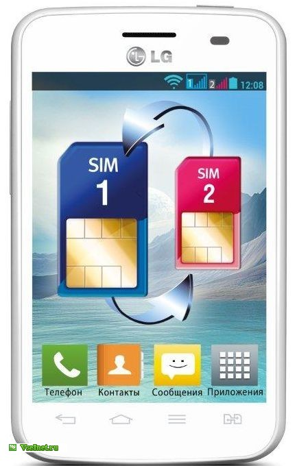 Коммуникатор моноблок LG E435 OPTIMUS L3 DUAL белый (433x680, 61Kb)