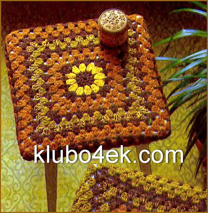 Схемы вязания крючком чехлов