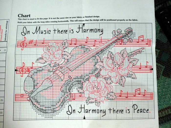 Вышивки на музыкальную тему