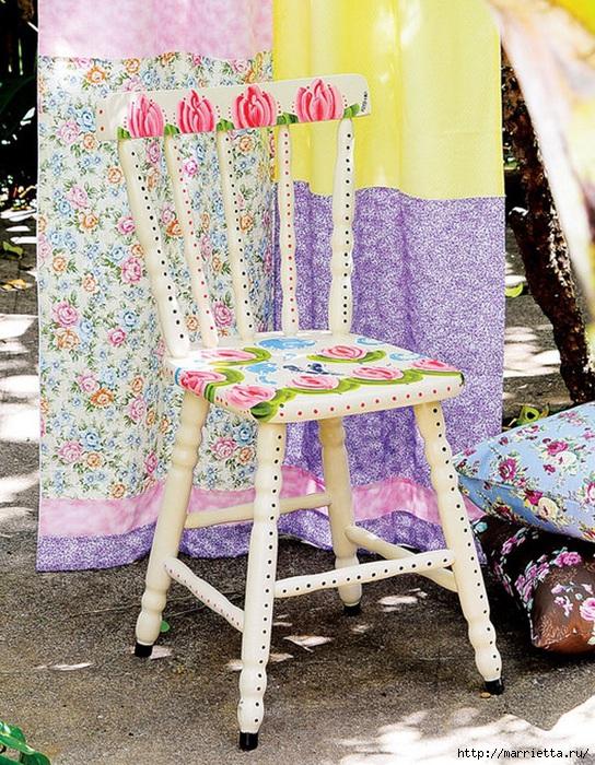 Тюльпаны на кухонном стуле. Веселенькая роспись (1) (544x700, 390Kb)