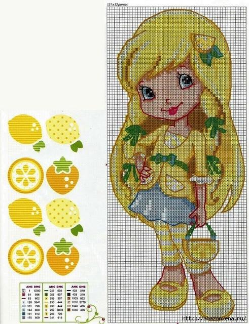 Схемы детской вышивки. Девочки (2) (491x640, 307Kb)