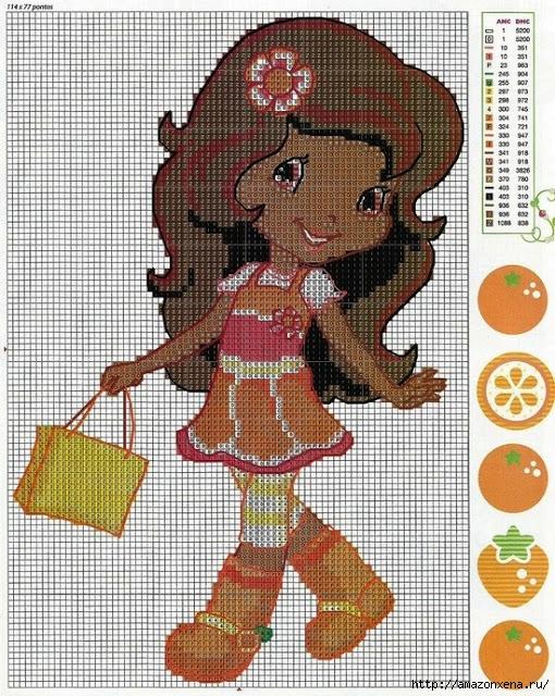Схемы детской вышивки. Девочки (4) (510x640, 358Kb)
