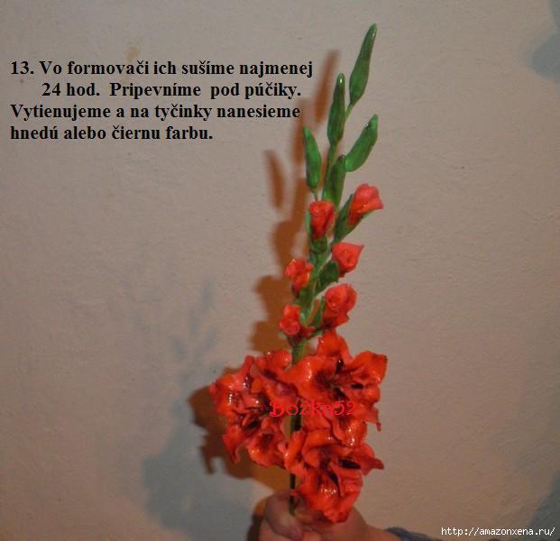 Гладиолусы. Фото мастер-класс по лепке (13) (621x600, 119Kb)