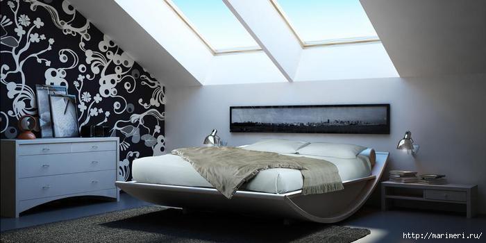 Фото дизайн мансардных спален