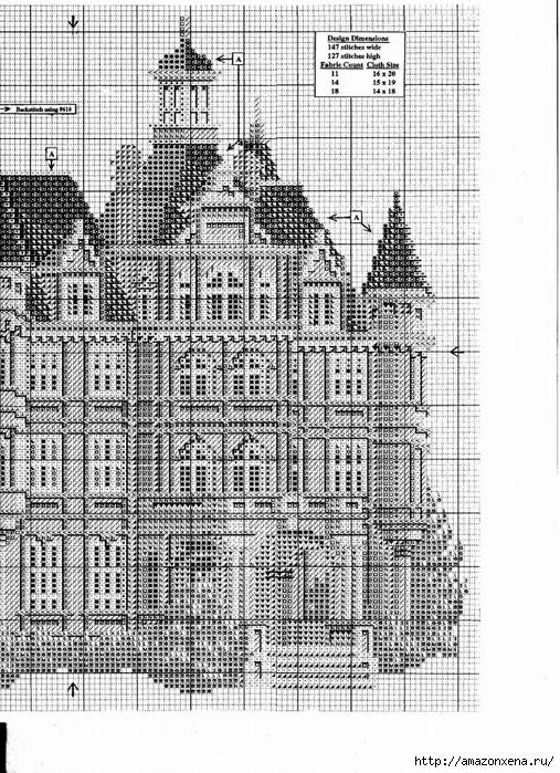 Французский замок. Вышивка крестиком (3) (507x700, 363Kb)