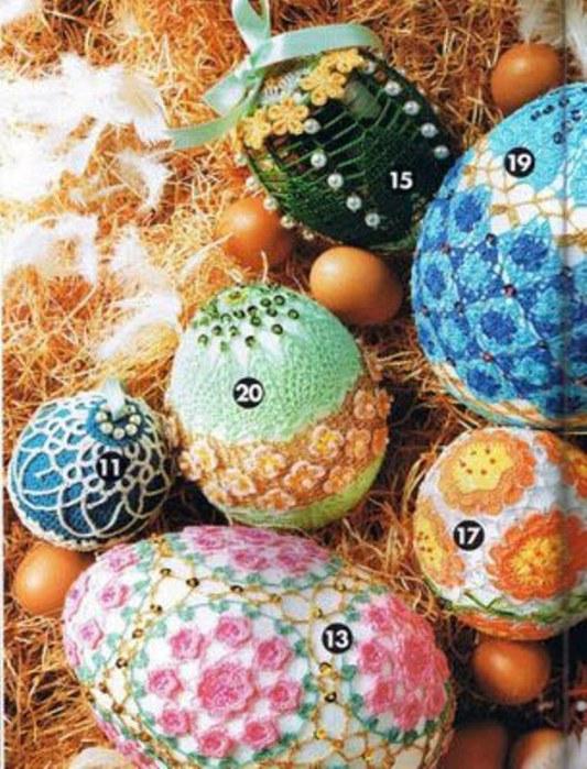пасхальные яйца и схемы.