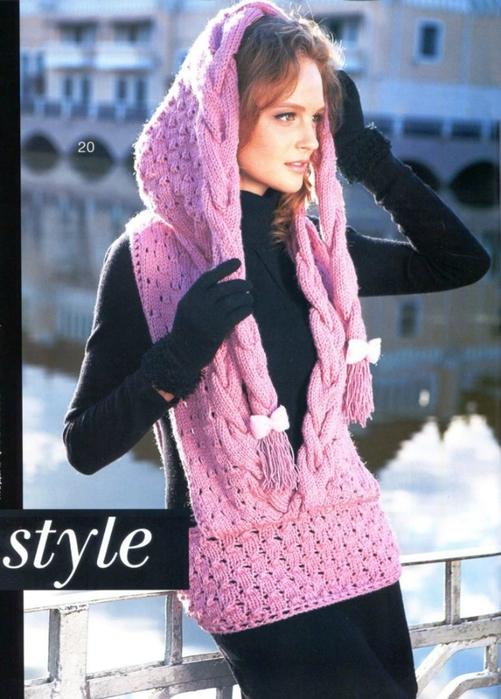 Оригинальный шарф-жилет c капюшоном (3) (501x700, 261Kb)