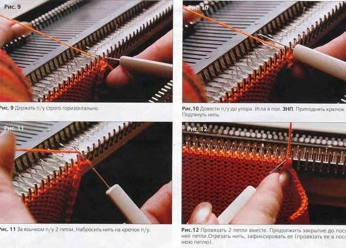 Машинное вязание горизонтальные петли