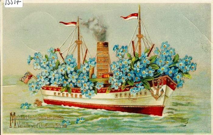 Старинные парусники открытки 76