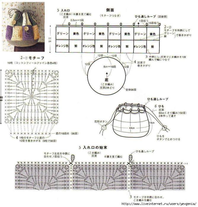 Вязание крючком схемы рюкзаков 19